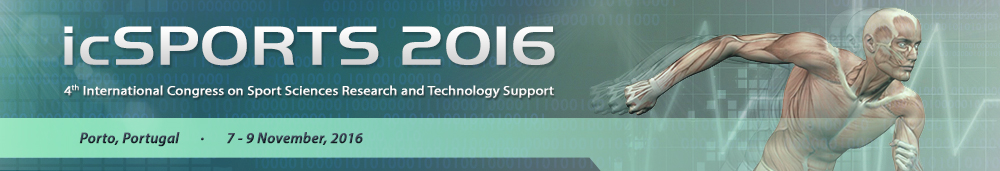 icSPORTS 2016. 4th International Congress on Sport Sciences Research and Technology Support. Porto, Portugal 7-9 November, 2016
